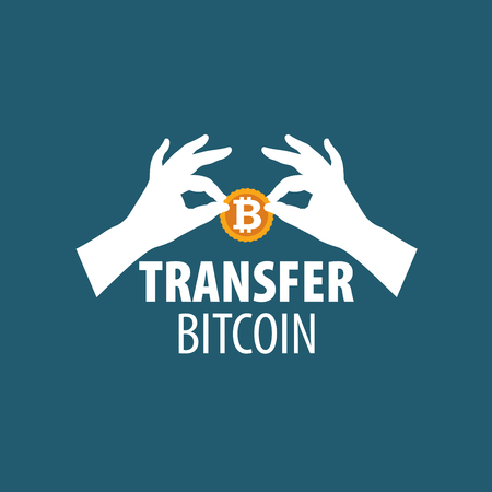 bitcoin money transfer vector