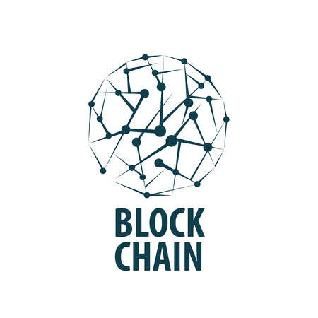 Vector logo blockchain. Abstract technological sign. Design element Illustration