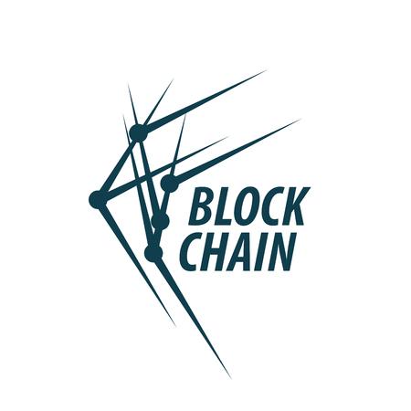 Vector blockchain. Abstract technological sign. Design element