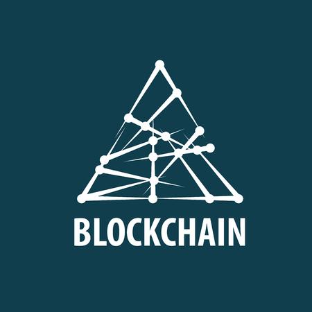 Vector logo blockchain Çizim