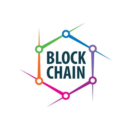 Vector logo blockchain Illusztráció
