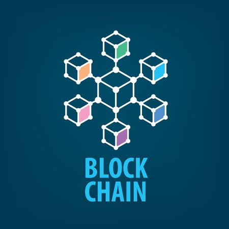 Vector logo blockchain Illustration