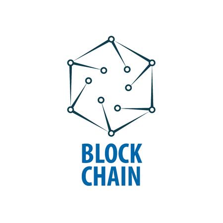 Vector logo blockchain Ilustração