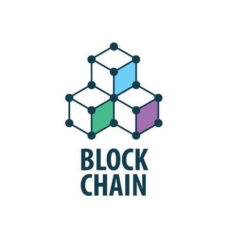 Vector logo blockchain 矢量图像