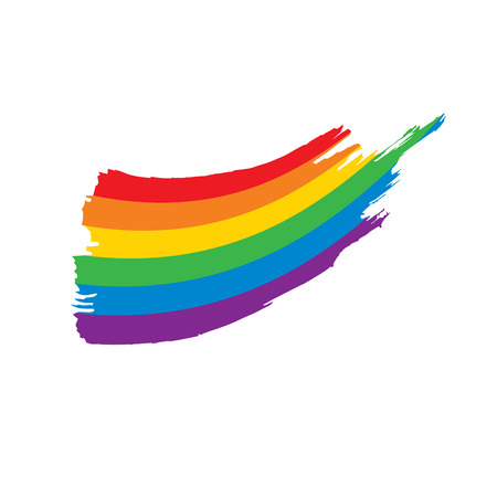 Grunge rainbow flag Çizim