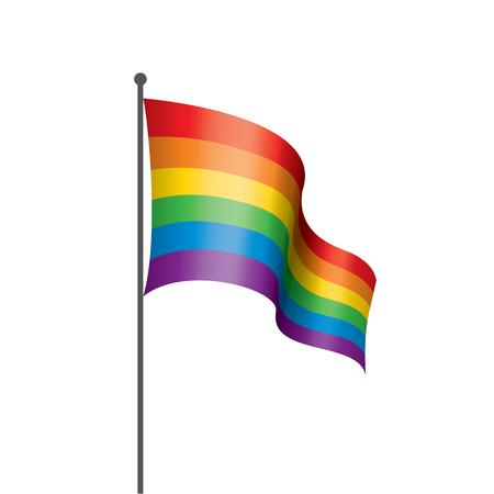 Vector una bandera del arco iris