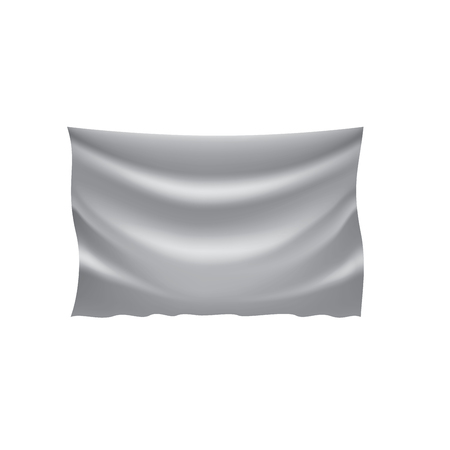 Waving the white flag on a white background. Vector illustration Vectores