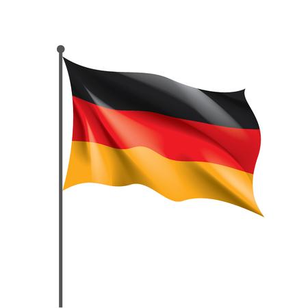Deutschlandflagge, Vektorillustration auf weißem Hintergrund Vektorgrafik