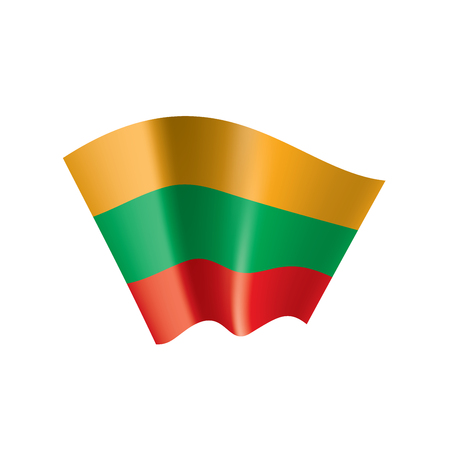 Lithuania flag, vector illustration on a white background  イラスト・ベクター素材