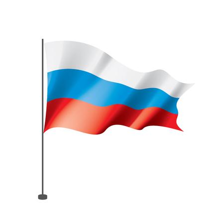 Russia flag, vector illustration on a white background Vektorové ilustrace