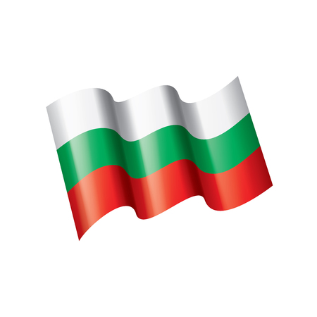 Bulgaria flag, vector illustration on a white background Иллюстрация