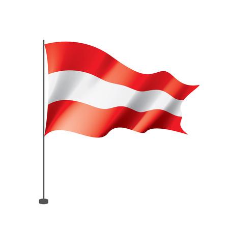 Austria flag, vector illustration on a white background