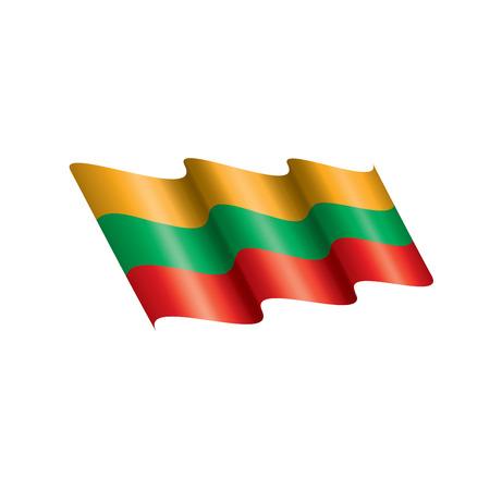 Lithuania flag, vector illustration on a white background Illustration