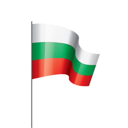 Bulgaria flag, vector illustration on a white background