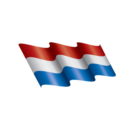 Netherlands flag, vector illustration Foto de archivo