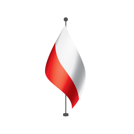 Poland flag, vector illustration on a white background