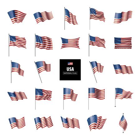 Drapeau des USA, illustration vectorielle sur fond blanc Vecteurs