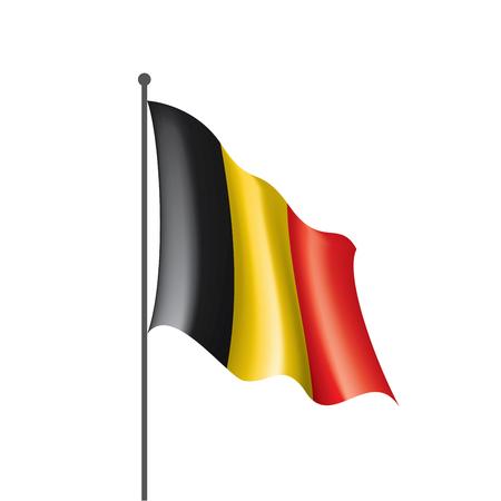 Belgien Flagge, Vektorillustration auf einem weißen Hintergrund Vektorgrafik