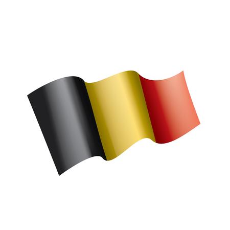 Belgium flag, vector illustration on a white background