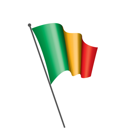 Mali flag, vector illustration on a white background