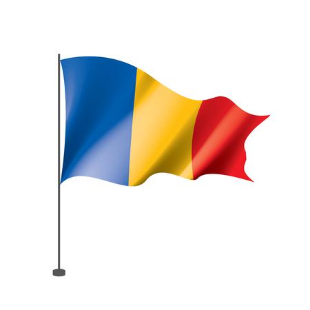 Vlag van Tsjaad, vectorillustratie op een witte achtergrond Vector Illustratie