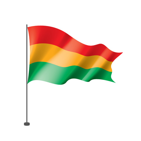 Bolivia flag, vector illustration on a white background Çizim
