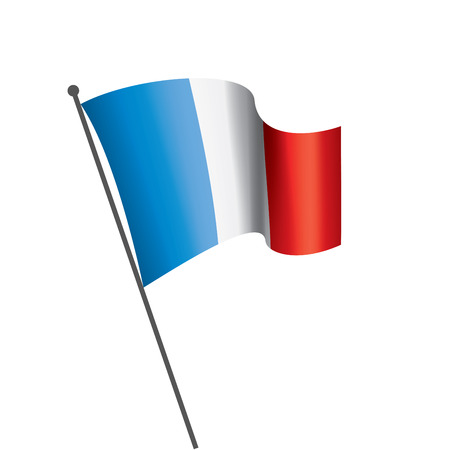 France flag, vector illustration on a white background Stock Illustratie