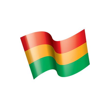 Bolivia flag, vector illustration on a white background  イラスト・ベクター素材