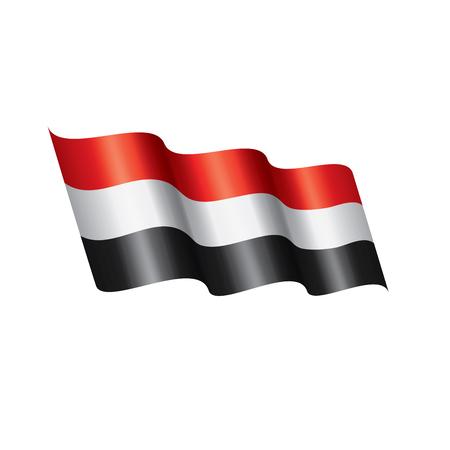 Drapeau yéménite, illustration vectorielle sur fond blanc Vecteurs