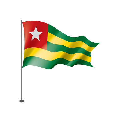 togo flag, vector illustration on a white background