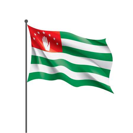 Abkhazia flag, vector illustration on a white background Illustration