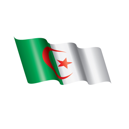 Algeria flag, vector illustration on a white background