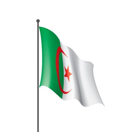 Drapeau de l'Algérie, illustration vectorielle sur fond blanc Vecteurs