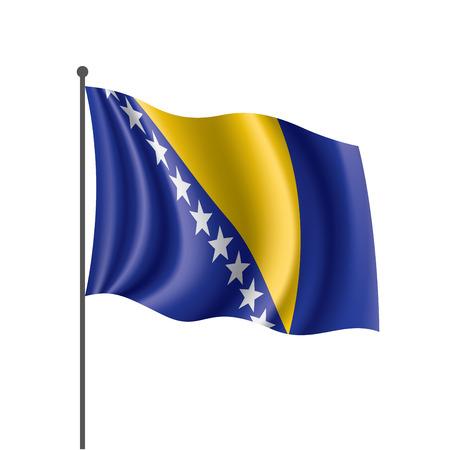 Bosnia and Herzegovina flag, vector illustration on a white background