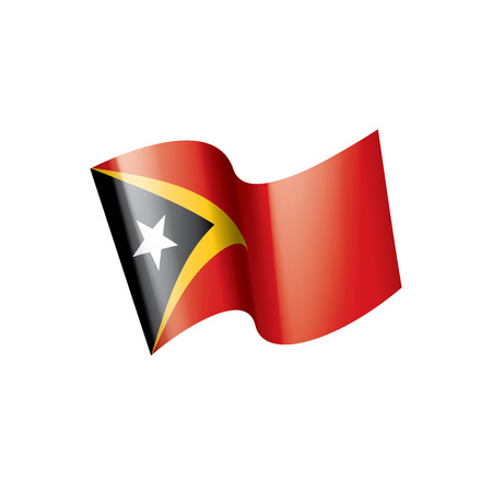 east timor national flag, vector illustration on a white background