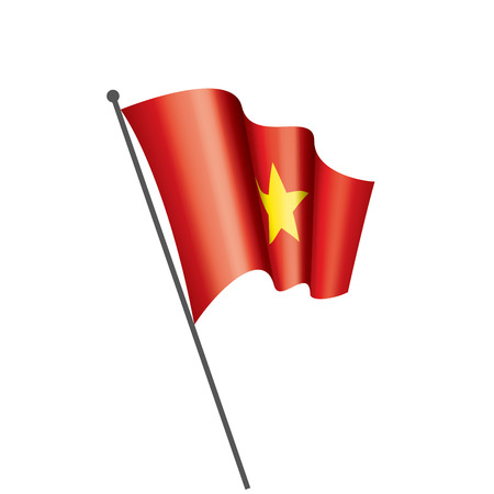 Vietnam national flag, vector illustration on a white background Çizim