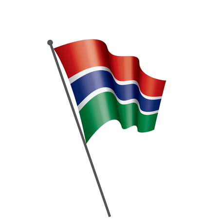 Gambia national flag, vector illustration on a white background Vectores