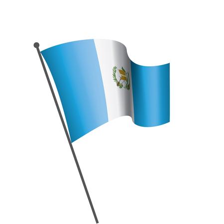 Guatemala national flag, vector illustration on a white background Vector Illustration