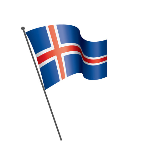 Iceland national flag, vector illustration on a white background Ilustracja