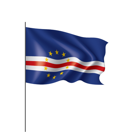 Cape Verde national flag, vector illustration on a white background Vectores