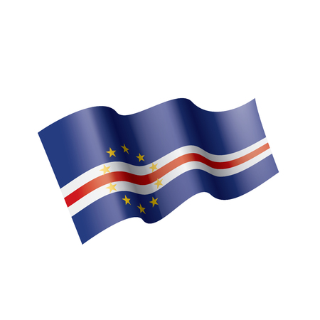 Cape Verde national flag, vector illustration on a white background Illustration