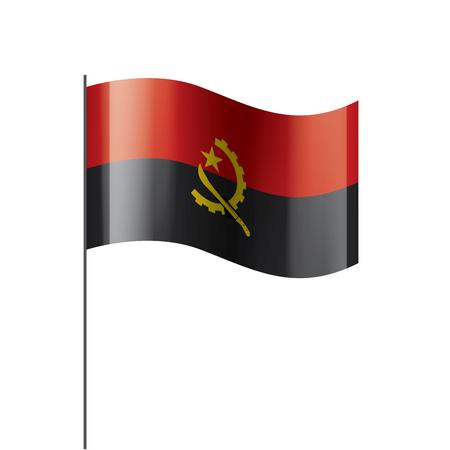 Angola national flag, vector illustration on a white background