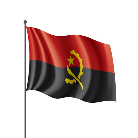 Angola flag, vector illustration on a white background 写真素材