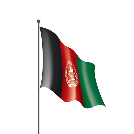 Afghanistan national flag, vector illustration on a white background
