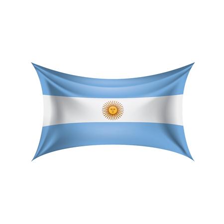 Flaga Argentyny, ilustracji wektorowych na białym tle