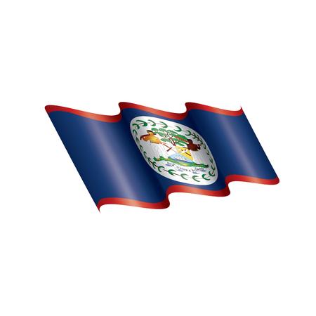 Belize national flag, vector illustration on a white background Illustration