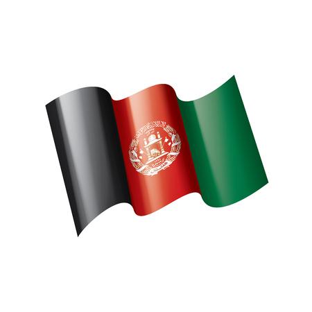 Bandera de Afganistán, ilustración vectorial sobre un fondo blanco.