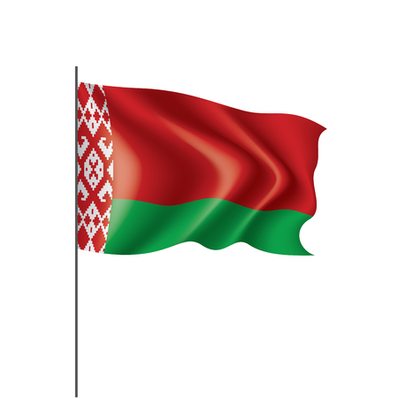 Belarus national flag, vector illustration on a white background Ilustração