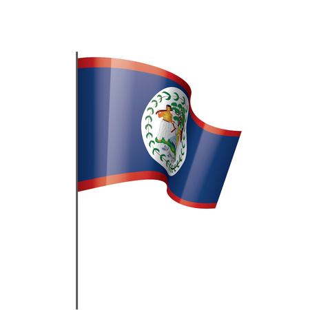 Belize national flag, vector illustration on a white background Vetores