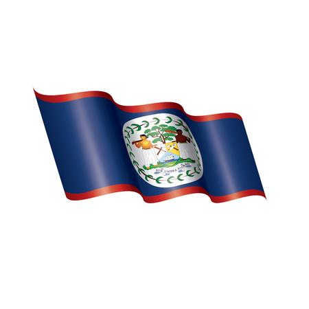 Belize flag, vector illustration on a white background